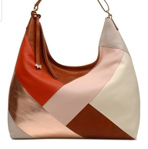 NWT Radley London Oxleas Leather Colorblock Hobo